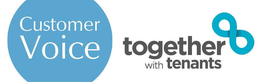 Customer Voice and Together with Tenants logos