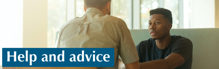 Help and advice banner